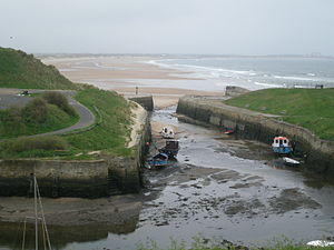 English: Seaton Sluice Harbour looking north t...