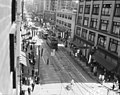 Seattle - Streetcars at Second and Pike, 1934 (48299420451).jpg
