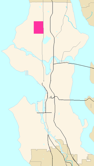 Greenwood, Seattle - Image: Seattle Map Greenwood