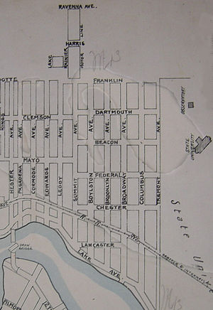 University District, Seattle - Image: Seattle map Sanborn Perris 1893 U. District v 3