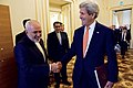 Secretary Kerry and Iranian Foreign Minister Zarif Share a Laugh Before Their Meeting in Vienna (27041312796).jpg