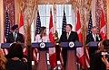 Secretary Pompeo, Secretary Mattis, Canadian Foreign Minister Freeland and Canadian Defense Minister Sajjan Address the Press (44499791810).jpg