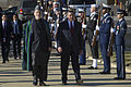 Secretary of Defense Leon E. Panetta, right, escorts Afghanistan's President Hamid Karzai to a full honors arrival ceremony to welcome Karzai to the Pentagon on Jan 130110-D-TT977-013.jpg