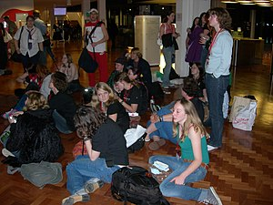 Harry Potter fandom - Attendees of Sectus convention in London await the midnight release of Harry Potter and the Deathly Hallows