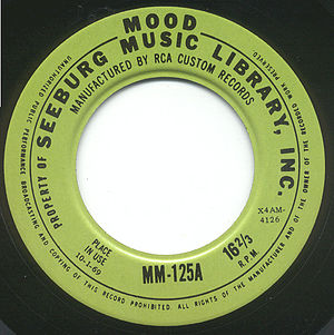Seeburg 1000 - Image: Seeburg 1969 16rpm Mood Record