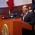 Senador Miguel Ángel Lucero Olivas en tribuna del Senado de la República.jpg