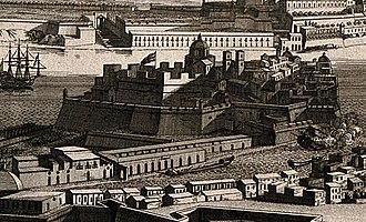 Fort Saint Michael - Image: Senglea Land Front 1725