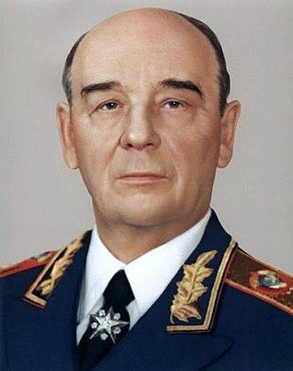 Sergey Sokolov (commander) - Sokolov in 1984
