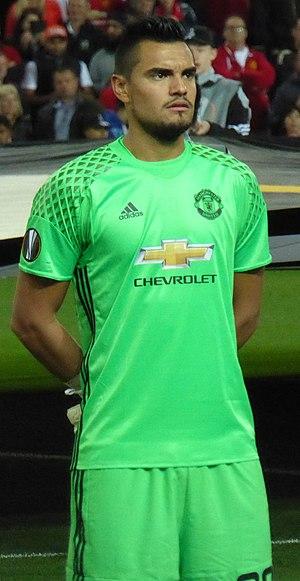 Sergio Romero - Romero playing for Manchester United in 2016