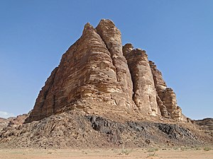 The Seven Pillars of Wisdom rock formation in ...