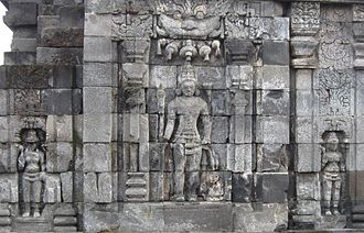 Sewu - The images of Boddhisattva on wall of perwara temple