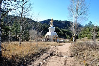 Peter Orlovsky - Shambala Mountain Center, path to Ginsberg and Orlovsky burial place
