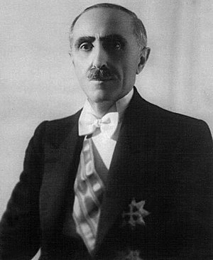 Albanian Kingdom (1939–43) - Shefqet Vërlaci, Prime Minister of Albania from 1939 to 1941.
