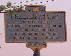 Shelter Island, New York - Image: Shelter island marker