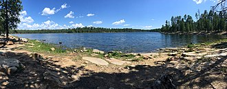 Willow Springs Lake - Image: Shore View of Willow Springs Lake (36761383542)