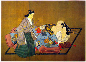 Miyagawa Chōshun - Image: Shunga trio