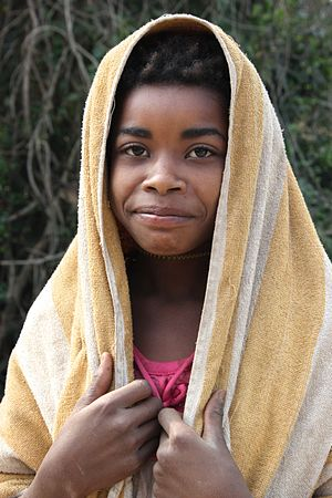 Afro-Asians in South Asia - A Siddi girl in Gujarat, India