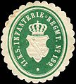 Siegelmarke 11. Königlich Sächsisches Infanterie - Regiment No. 139. W0224172.jpg
