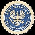 Siegelmarke Amt Malchow - Kreis Nieder - Barnim W0215721.jpg
