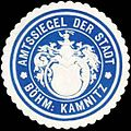 Siegelmarke Amtssiegel der Stadt Böhmisch Kamnitz W0318126.jpg