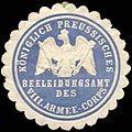 Siegelmarke Königlich Preussisches Bekleidungsamt des VIII. Armee - Corps W0238276.jpg