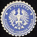 Siegelmarke K. Ostbahn - Eisenbahn - Commission Berlin W0232901.jpg