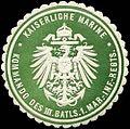 Siegelmarke Kaiserliche Marine - Kommando des III. Batallions 1. Marine Infanterie Regiments W0237856.jpg