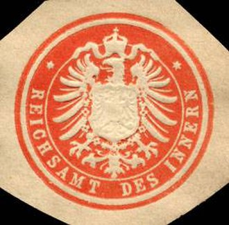 Federal Ministry of the Interior, Building and Community - Seal of the Reichsamt des Innern