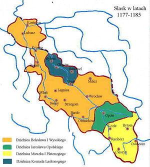 Duchies of Silesia - Image: Silesia 1177 1185