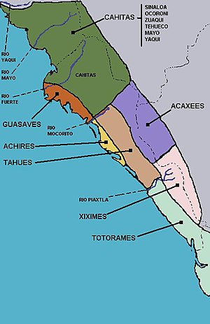Acaxee - The distribution of Indian groups in pre-Hispanic Sinaloa