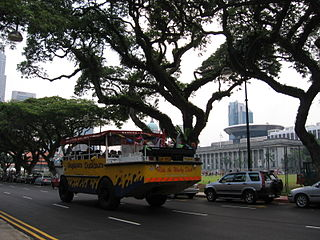 Connaught Drive Road in Singapore