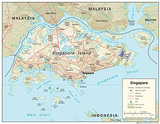 Straits of Johor Strait in Southeast Asia