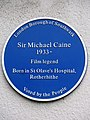 Sir Michael Caine 1933- Film legend Born in St Olave's hospital Rotherhithe.jpg