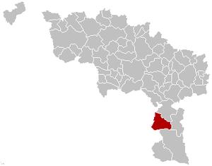 Sivry-Rance - Image: Sivry Rance Hainaut Belgium Map