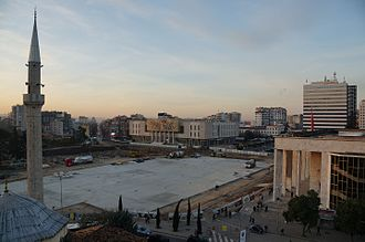 Skanderbeg Square - 2016 construction works