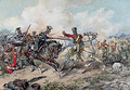 Skirmish of the 1st Uhlan Regiment of Polish Army in Różan in 1831.PNG