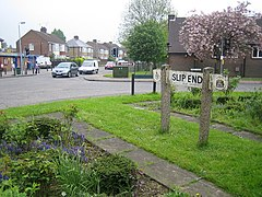 Slip End, Village Sign and Village Hall - geograph.org.uk - 168744.jpg