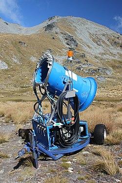 Snow-making machine, at Remarkables ski field.jpg