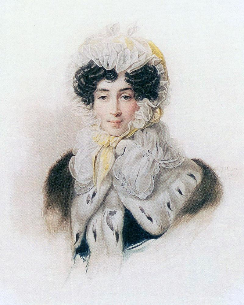 Акварель В. И. Гау, 1830-е года