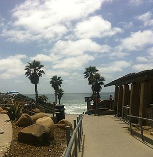 The entrance of Solana Beach, California, USA in June 2013