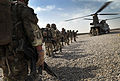 Soldiers from 1 Rifles Wait to Board a Chinook Helicopter During Op Omid Haft in Afghanistan MOD 45153475.jpg
