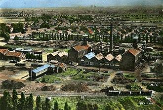 Nord-Pas de Calais Mining Basin - Image: Somain Fosse De Sessevalle, photochrome