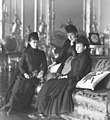 Sophie, Viktoria and Margaret mourning the death of their father.jpg