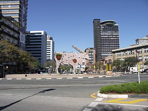 Braamfontein - Ameshoff St. and Bertha St. streetscape