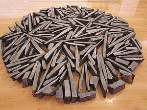 Richard Long (artist) -  South Bank Circle by Richard Long, Tate Liverpool, England. (1991)