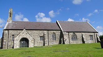 St Cristiolus's Church, Llangristiolus - Image: South side of St Cristiolus, Llangristiolus