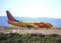 "Southwest 737-700 N781WN, ""New Mexico"", lands at OAK... (5652401333) (2).jpg"
