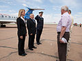 Soyuz TMA-09M crew at the airport in Baikonur.jpg