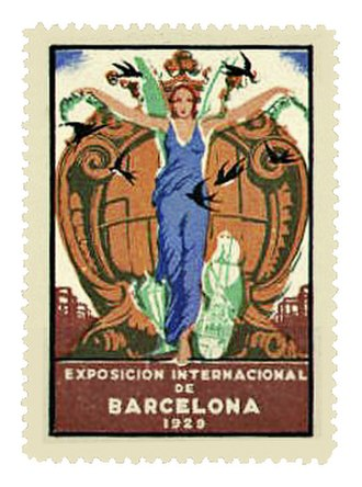 "1929 Barcelona International Exposition - Promotional ""Cinderella stamp"" for the Barcelona International Exposition, 1929"