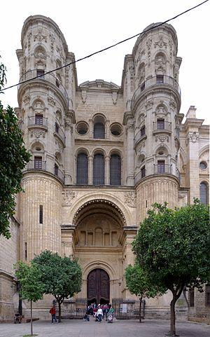 Málaga Cathedral - Image: Spain Andalusia Malaga BW 2015 10 24 10 51 57